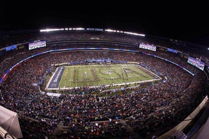 Aerial Shot of SUMB Super Bowl Pre-game Show
