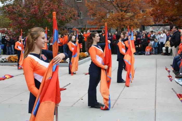 Color Guard on the Quad